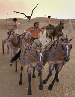 Egyptian Chariot Warfare for Daz Horse 2