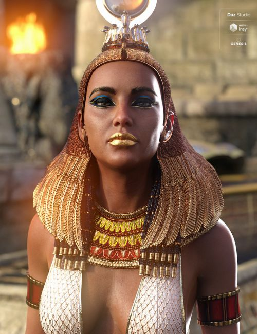 Hemet-nisut Hair and Accessories for Genesis 8 Female