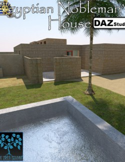 Egyptian Nobleman's House for Daz Studio