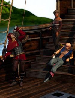 IGD Sea Bandit Poses for Genesis 8