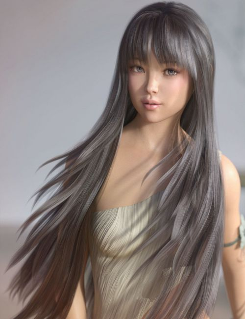 Neve Hair for Genesis 3 and 8 Females