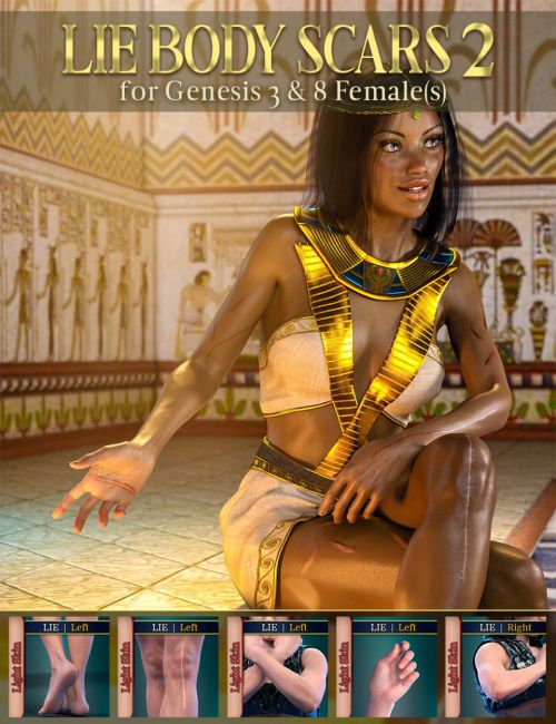 LIE Body Scars 2 for Genesis 3 and 8 Females