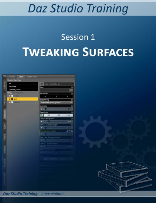 Daz Studio Training Intermediate 01 - Tweaking the Surfaces