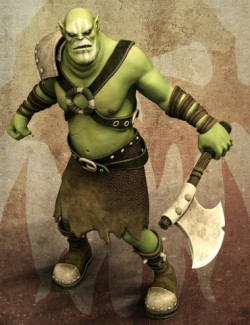 Greenzkin Orc and Outfit for Genesis 8 Male