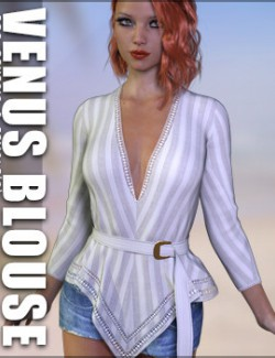 dForce Venus Blouse for Genesis 8 Females