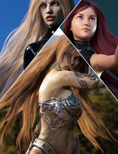 Turbulent Long Hair for Genesis 3 and 8 Females