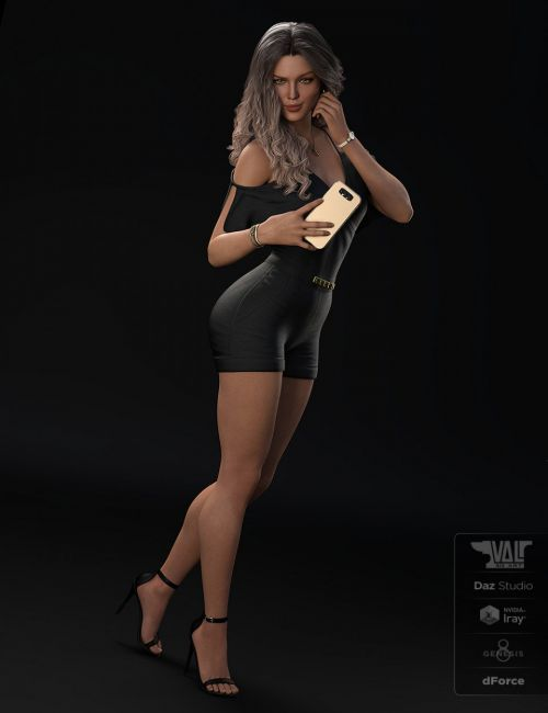 dForce Axya Casual Outfit for Genesis 8 Females