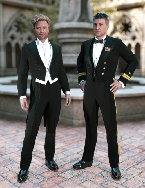 PRZ White Tie Outfit for Genesis 8 Male(s)