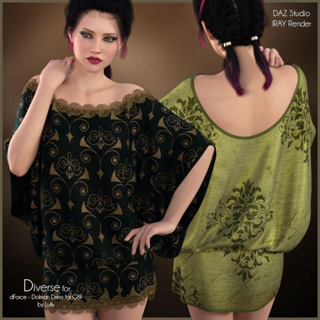 Diverse for Dolman Dress