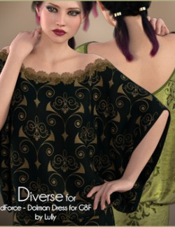 Diverse for Dolman Dress
