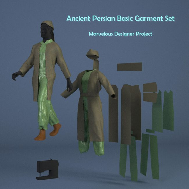 Ancient Persian Clothing - Marvelous Designer Projects