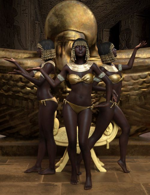 Egyptian Poses for Genesis 8 Female