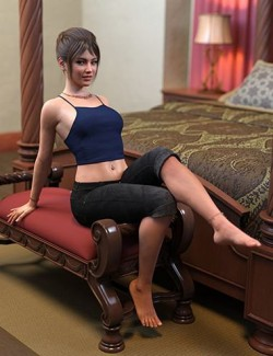 FG Comfy Bedroom Poses for Genesis 8
