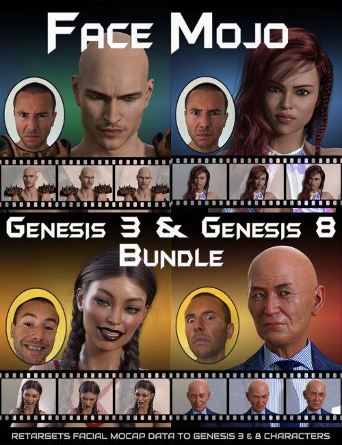 Face Mojo - Facial MoCap Retargeting - Genesis 3 and 8 Bundle