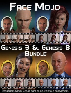 Face Mojo - Facial MoCap Retargeting - Genesis 3 and 8 Bundle