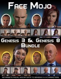 Face Mojo- Facial MoCap Retargeting- Genesis 3 and 8 Bundle