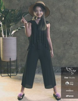 dForce RN Kids Outfits and Poses for Genesis 8 Female(s)