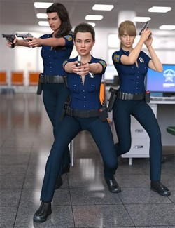 Police Action Poses for Genesis 8 Female