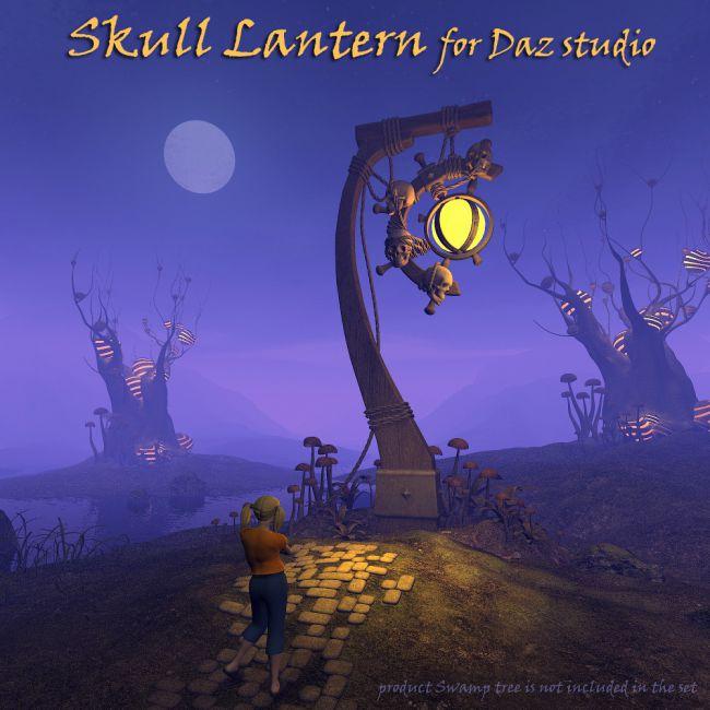 Skull Lantern for Daz Studio