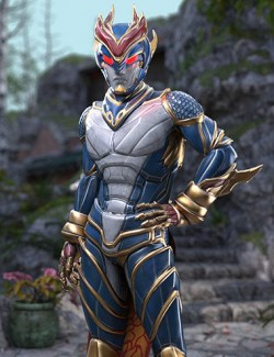 Qinglong- The Blue Dragon Outfit for Genesis 8 Male