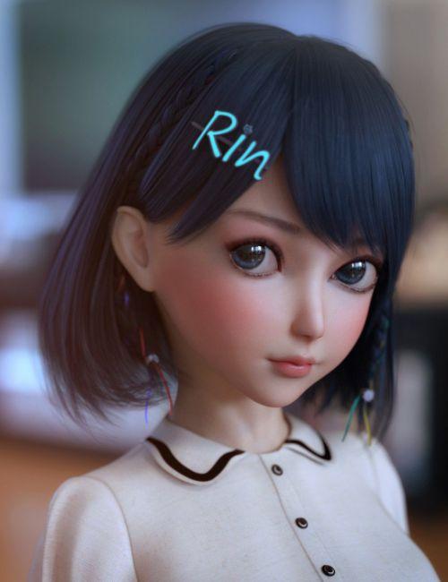 Rin Hair for Genesis 8 Females