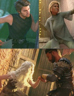 Assassins of the Souk Poses for Genesis 8