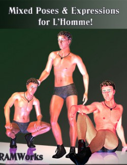 Mixed Poses & Expressions for L'Homme