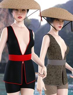 dForce Far East Wear for Genesis 8 Female