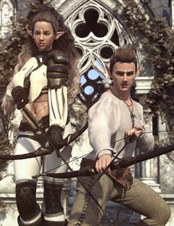 Unbroken Aim Archer Poses for Genesis 8