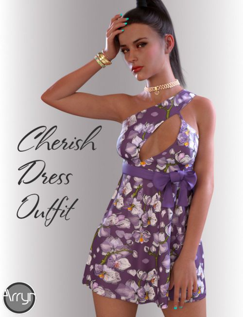 dForce Cherish Candy Dress for Genesis 8 Female(s)