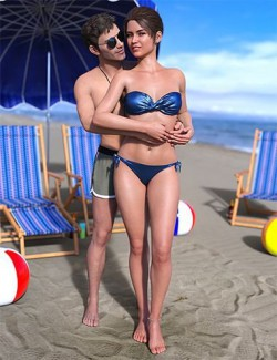 IM Beach Romance Poses for Genesis 8