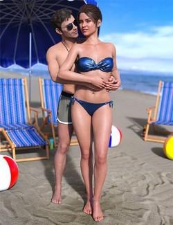 IM Beach Romance Poses for Genesis 8