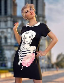 dForce Dasha Dress for Genesis 8 Females
