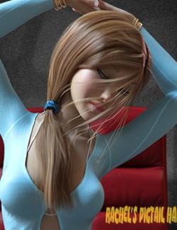 Rachel's Pigtail Hair for Genesis 8 Female