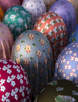 Floral Silk Fabric Iray Shaders