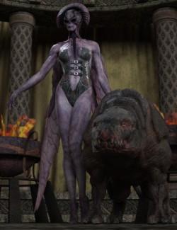 Demon Queen Poses for Fallen Angel