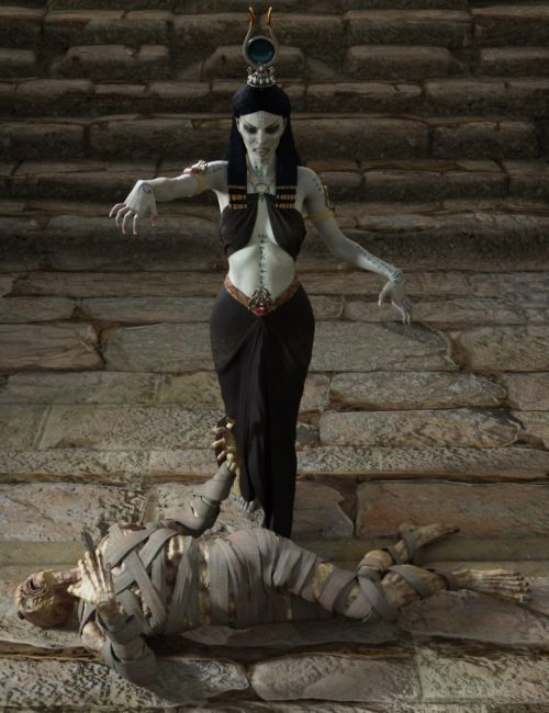 Dark Pharaoh Poses for Genesis 8 Female