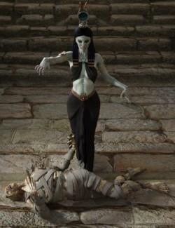 Dark Pharaoh Poses for Genesis 8 Female