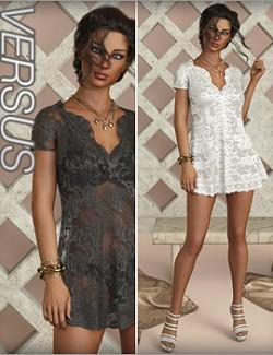 VERSUS- dForce Paula Candy Outfit for Genesis 8 Females