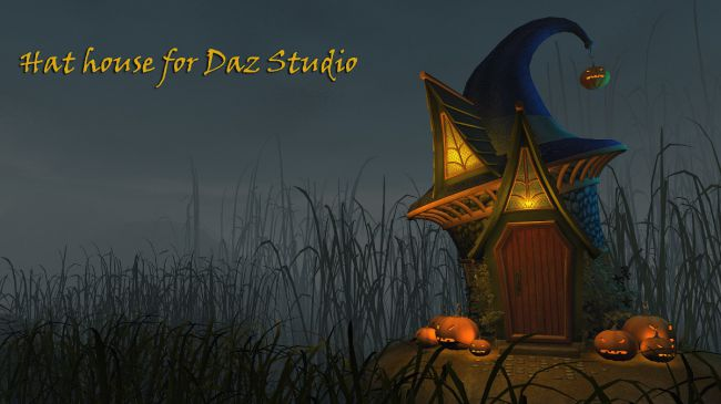 Hat house for Daz Studio