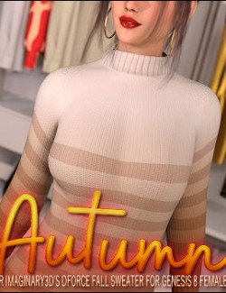 Autumn for dForce Fall Sweater for Genesis 8 Females
