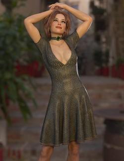 dForce Ayden Dress for Genesis 8 Females