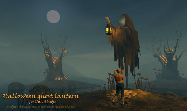 Halloween ghost lantern for Daz Studio