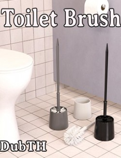 Toilet Brush for Iray