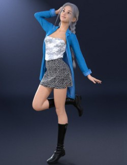 dForce Big Jacket Outfit for Genesis 8 Females