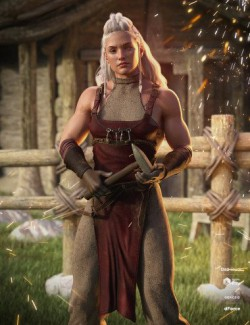 dForce Alerune Blacksmith Outfit for Genesis 8 Females