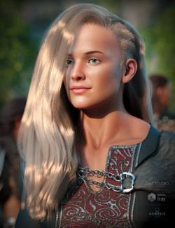 Dynah Hair for Genesis 8 Females