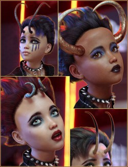 Alchemy for Fantasy Horns Vol 1 for Genesis 8 Female(s)