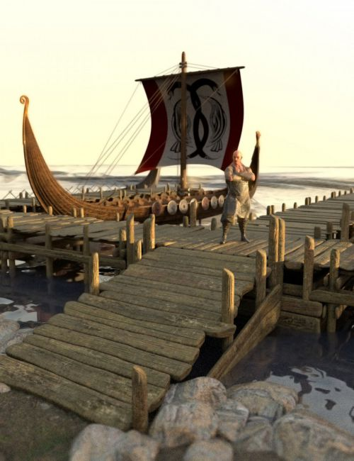 Viking Shores Scene and Props