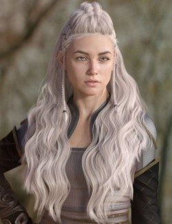 Iselind Hair for Genesis 3 and 8 Females